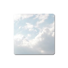 Light Nature Sky Sunny Clouds Square Magnet by Onesevenart