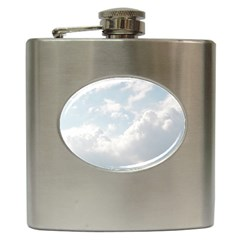 Light Nature Sky Sunny Clouds Hip Flask (6 Oz) by Onesevenart