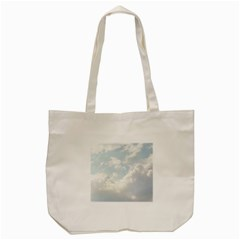 Light Nature Sky Sunny Clouds Tote Bag (cream) by Onesevenart