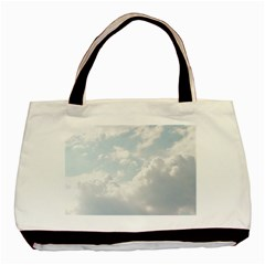 Light Nature Sky Sunny Clouds Basic Tote Bag by Onesevenart