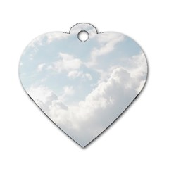 Light Nature Sky Sunny Clouds Dog Tag Heart (one Side) by Onesevenart