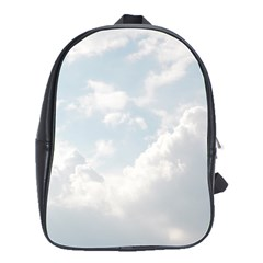 Light Nature Sky Sunny Clouds School Bags(large)  by Onesevenart