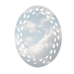 Light Nature Sky Sunny Clouds Oval Filigree Ornament (two Sides) by Onesevenart