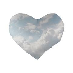 Light Nature Sky Sunny Clouds Standard 16  Premium Flano Heart Shape Cushions by Onesevenart