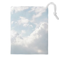 Light Nature Sky Sunny Clouds Drawstring Pouches (xxl) by Onesevenart