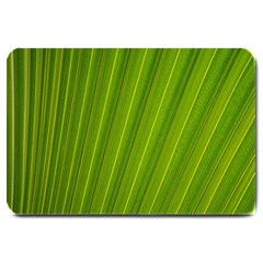 Green Leaf Pattern Plant Large Doormat  by Onesevenart