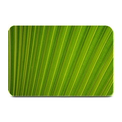 Green Leaf Pattern Plant Plate Mats by Onesevenart
