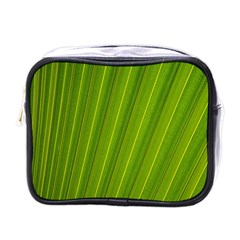 Green Leaf Pattern Plant Mini Toiletries Bags by Onesevenart
