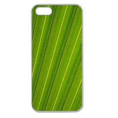 Green Leaf Pattern Plant Apple Seamless Iphone 5 Case (clear) by Onesevenart
