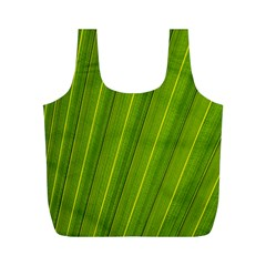 Green Leaf Pattern Plant Full Print Recycle Bags (m)  by Onesevenart