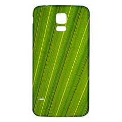 Green Leaf Pattern Plant Samsung Galaxy S5 Back Case (white) by Onesevenart