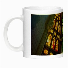 Leopard Barcelona Stained Glass Colorful Glass Night Luminous Mugs by Onesevenart