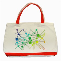 Network Connection Structure Knot Classic Tote Bag (red) by Onesevenart
