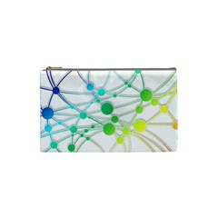 Network Connection Structure Knot Cosmetic Bag (small)  by Onesevenart