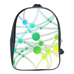 Network Connection Structure Knot School Bags(large)  by Onesevenart