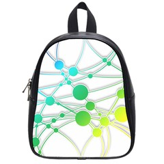 Network Connection Structure Knot School Bags (small)  by Onesevenart