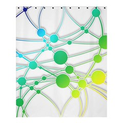 Network Connection Structure Knot Shower Curtain 60  X 72  (medium)  by Onesevenart