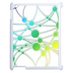 Network Connection Structure Knot Apple Ipad 2 Case (white) by Onesevenart