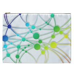 Network Connection Structure Knot Cosmetic Bag (xxl)  by Onesevenart