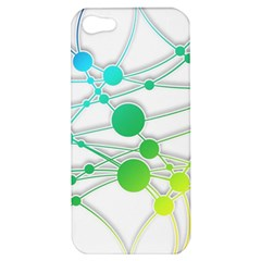 Network Connection Structure Knot Apple Iphone 5 Hardshell Case by Onesevenart