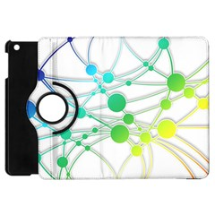 Network Connection Structure Knot Apple Ipad Mini Flip 360 Case by Onesevenart