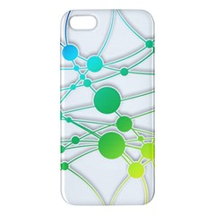 Network Connection Structure Knot Apple Iphone 5 Premium Hardshell Case by Onesevenart