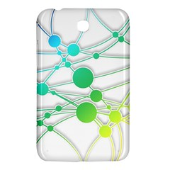 Network Connection Structure Knot Samsung Galaxy Tab 3 (7 ) P3200 Hardshell Case  by Onesevenart