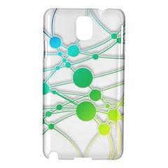 Network Connection Structure Knot Samsung Galaxy Note 3 N9005 Hardshell Case by Onesevenart