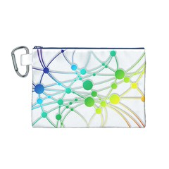Network Connection Structure Knot Canvas Cosmetic Bag (m) by Onesevenart