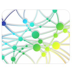 Network Connection Structure Knot Double Sided Flano Blanket (medium)  by Onesevenart