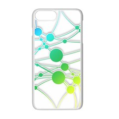 Network Connection Structure Knot Apple iPhone 7 Plus White Seamless Case by Onesevenart