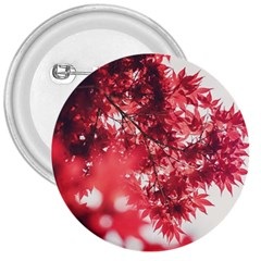 Maple Leaves Red Autumn Fall 3  Buttons by Onesevenart