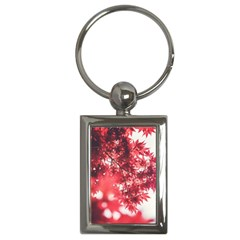 Maple Leaves Red Autumn Fall Key Chains (rectangle)  by Onesevenart