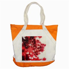 Maple Leaves Red Autumn Fall Accent Tote Bag by Onesevenart