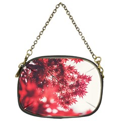 Maple Leaves Red Autumn Fall Chain Purses (one Side)  by Onesevenart