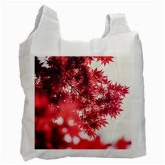 Maple Leaves Red Autumn Fall Recycle Bag (two Side)  by Onesevenart