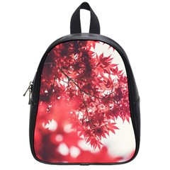 Maple Leaves Red Autumn Fall School Bags (small)  by Onesevenart