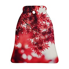Maple Leaves Red Autumn Fall Ornament (bell) by Onesevenart