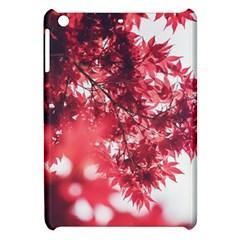 Maple Leaves Red Autumn Fall Apple Ipad Mini Hardshell Case by Onesevenart