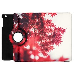 Maple Leaves Red Autumn Fall Apple Ipad Mini Flip 360 Case by Onesevenart