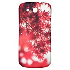 Maple Leaves Red Autumn Fall Samsung Galaxy S3 S Iii Classic Hardshell Back Case by Onesevenart