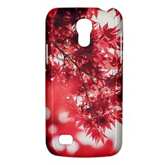 Maple Leaves Red Autumn Fall Galaxy S4 Mini by Onesevenart