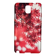 Maple Leaves Red Autumn Fall Samsung Galaxy Note 3 N9005 Hardshell Case by Onesevenart