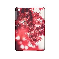 Maple Leaves Red Autumn Fall Ipad Mini 2 Hardshell Cases by Onesevenart