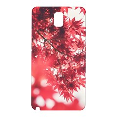 Maple Leaves Red Autumn Fall Samsung Galaxy Note 3 N9005 Hardshell Back Case by Onesevenart
