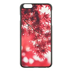Maple Leaves Red Autumn Fall Apple Iphone 6 Plus/6s Plus Black Enamel Case by Onesevenart