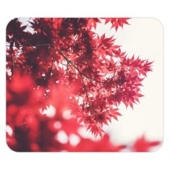 Maple Leaves Red Autumn Fall Double Sided Flano Blanket (small)  by Onesevenart
