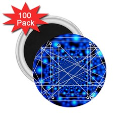 Network Connection Structure Knot 2 25  Magnets (100 Pack)  by Onesevenart