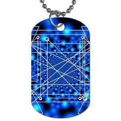 Network Connection Structure Knot Dog Tag (two Sides) by Onesevenart
