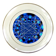 Network Connection Structure Knot Porcelain Plates by Onesevenart